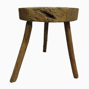 Vintage Rustic Pine Side Table, 1920s