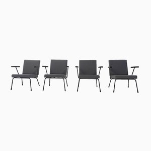 Modell 1401 Sessel von Wim Rietveld für Gispen, 1950er, 4er Set