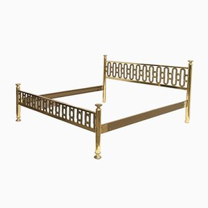 Italian Brass Double Bed by Luciano Frigerio, 1970s