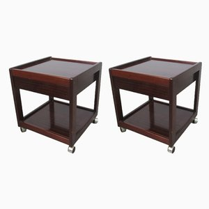 Vintage Mahogany Nightstands, 1970s, Set of 2