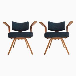 HF506 Sessel mit Gestell aus Schichtholz von Cor Alons für Gouda den Boer, 1950er, 2er Set