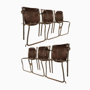 Dutch School Chairs by Sjoerd Schamhart, 1950s, Set of 6