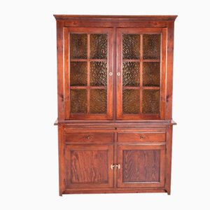 Antique English Pine Display Cabinet