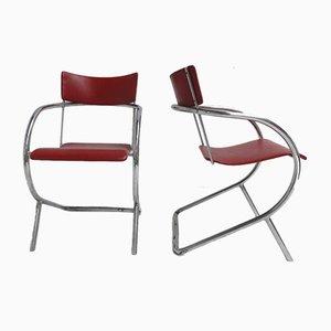 Modell 32 Stühle von Paul Schuitema für D3 Rotterdam, 1932, 2er Set