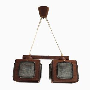 Lámpara colgante cúbica de Vitrika & Orrefors, años 60