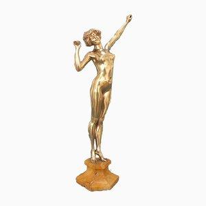 Awakening Skulptur aus Bronze von Paul Philippe für Goldscheider, 1930er