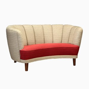 Mid-Century Danish Wool Sofa, 1940s