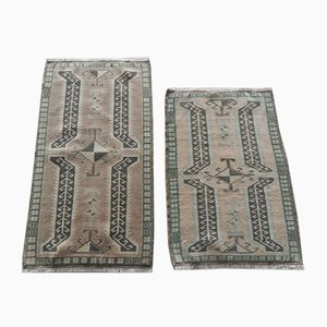 Small Vintage Oushak Floor Mats, 1970s, Set of 2