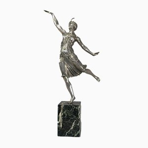 Vintage Bronze Dancer by Joe Descomps