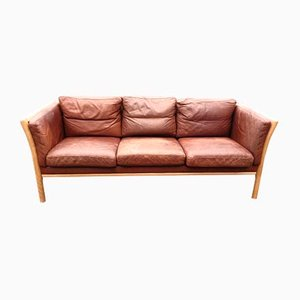 Mid-Century Leather Sofa, 1960s
