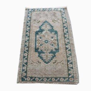 Türkischer Vintage Teppich aus Baumwolle & Wolle, 1970er