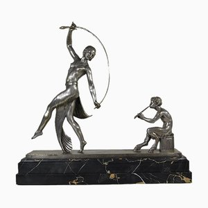 Escultura Faun de bronce de Guirande, años 20