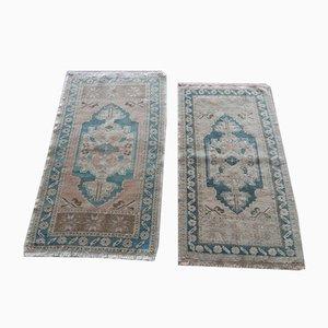 Kleiner handgefertigter türkischer Teppich, 1960er