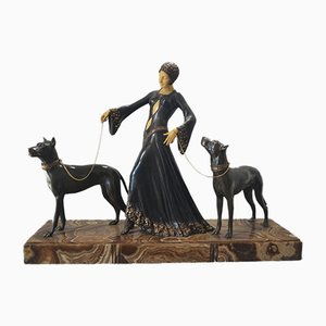 Art Deco the Guardians Figurine from Georges Gori, 1920s