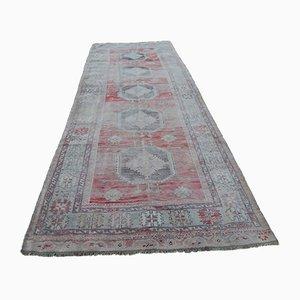 Vintage Pastel Oushak Runner Carpet, 1970s