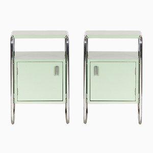 Art Deco Sideboards aus Chrom & Stahlrohr von Slezak, 2er Set