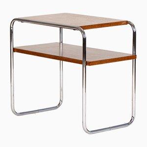 Table d'Appoint Bauhaus en Chrome et Chêne