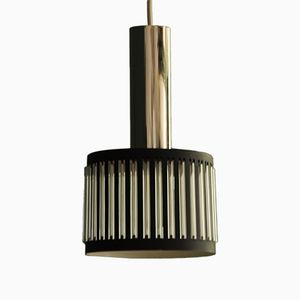 Mid-Century Glass and Metal Pendant Lamp, 1960s