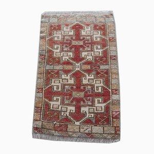 Alfombra Oushak vintage pequeña tejida a mano, años 70