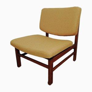 Scandinavian Mustard Yellow Lounge Chair, 1960s