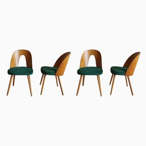 Plywood and Ash Dining Chairs by Antonín Šuman for Tatra Nabytok, 1960s, Set of 4