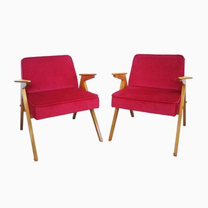 Bunny Armchairs by Józef Chierowski, 1970s, Set of 2