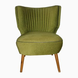 Vintage Green Cocktail Chair, 1950s