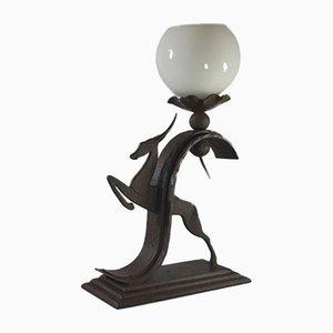 Lampe aus Schmiedeeisen von Michel Zadounaisky, 1930er