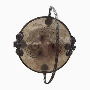 Cuenco de vidrio de Pierre D'Avesn, años 30