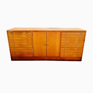 Cajonera italiana Mid-Century de madera, años 60