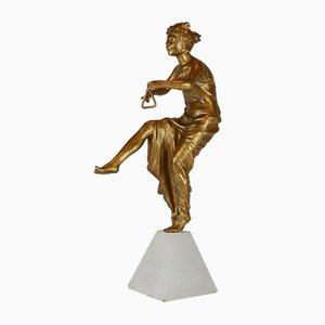 Art Deco Tänzer Skulptur von P. Rigal