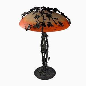 Art Deco Lampe von Schneider & Trichard
