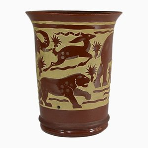 Brown Savannah Vase by Roger Mequinion, 1940s