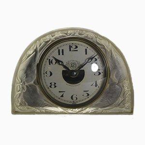 Horloge Moineaux par René Lalique pour ATO, 1924