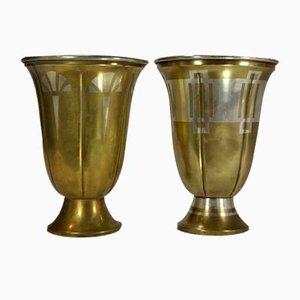 Vasen von Luc Lanel für Christofle, 1920er, 2er Set