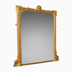 Antiker italienischer Spiegel mit vergoldetem Rahmen, 1850er