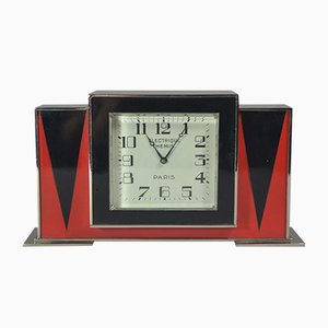 Lacquered Clock by Jean Dunand for Paul Brandt, 1930s