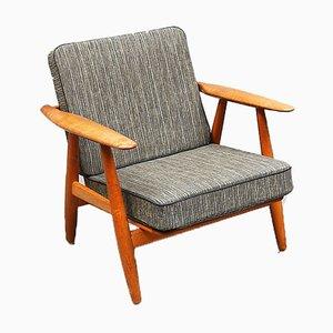 Dänischer Modell GE-240 Sessel mit Gestell aus Eiche von Hans J. Wegner für Getama, 1950er