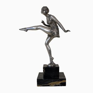 Vintage Dancing Lady Bronze Figure by P. LE. Faguays
