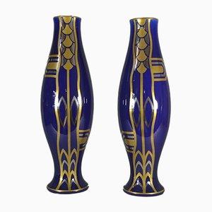 Art Deco Vasen von Gustave Asch für Saint Radegonde, 1930er, 2er Set
