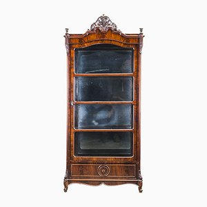 Antique Louis Philippe Showcase, 1850s