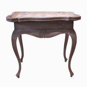 Table d'Appoint Antique en Palissandre et Bois Peint Gris, 1780s