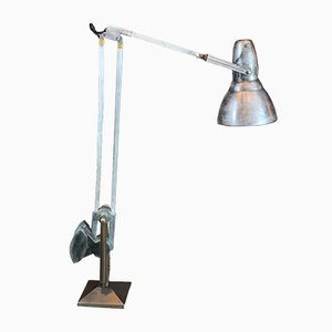 Vintage Aluminum & Cast Iron Table Lamp from Erpe, 1948