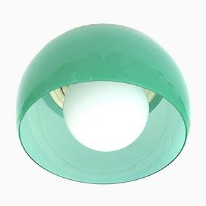 Lampada da soffitto Omega verde di Vico Magistretti per Artemide, anni '60