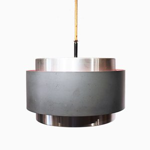Danish Metal Saturn Pendant Lamp by Johannes Hammerborg, 1960s