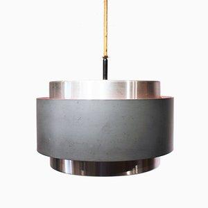 Lámpara colgante Saturn danesa de metal de Johannes Hammerborg, años 60