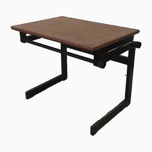 Tavolo da disegno Mid-Century in acciaio e pagwood, anni '60