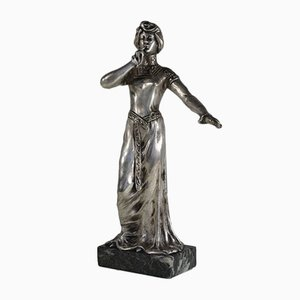 Art Nouveau Shh!!! Bronze Symbolist Figure from Smedt