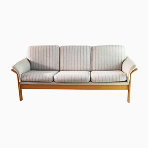 Danish Beech and Wool 3-Seater Sofa from Soren Lund, 1970s