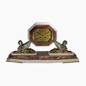Vintage Art Deco Uhr aus Bronze